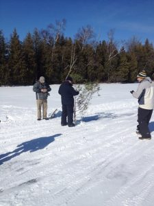Marking Location with Branches Using GPS -                                                        February 28, 2015