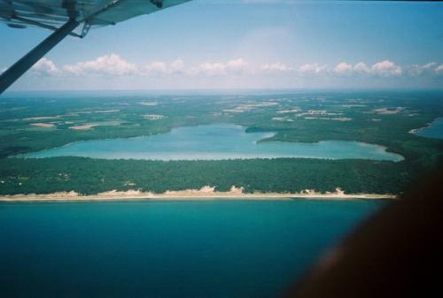 Clark Lake Aerial from Whitefish Dunes